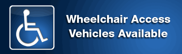 Vehicles with wheelchair access available