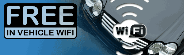 Free WiFi connection in vehicles